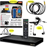 Sony UBP-X800/UBP-UX80 (2017 Model) 4K Upscaling Blu-ray Disc Player With Wifi - 6 Pack Kit - Remote Control - 3 Pc Cleaning Kit - 12 FT High speed HDMI Cable - Ear Buds (1 Year Warranty)
