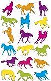 MALIDOR 17,5x 9x 0,2cm Kunststoff Cooky Pferde Aufkleber