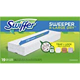 Swiffer Sweeper XL Dry Sweeping Pad Refills for Floor Mop, Unscented Refill Cloth,  19 Count, Swifter