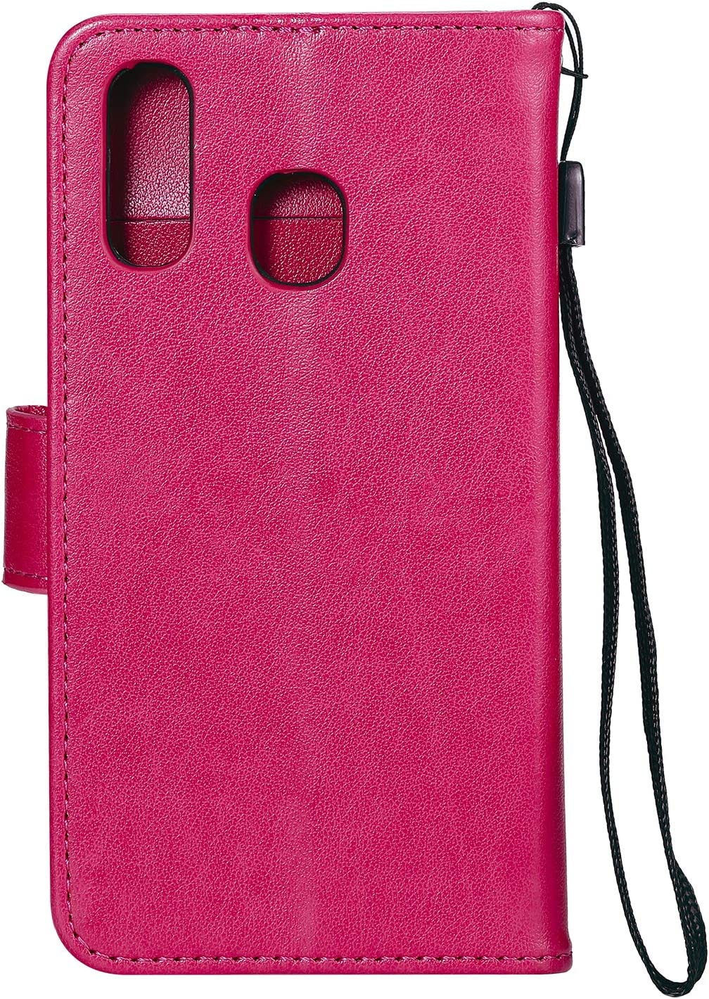 Shockproof Flip Case Cover for Samsung Galaxy A20e LOHHA130151 Red Lomogo Leather Wallet Case for Galaxy A20e A10e with Stand Feature Card Holder Magnetic Closure A10e