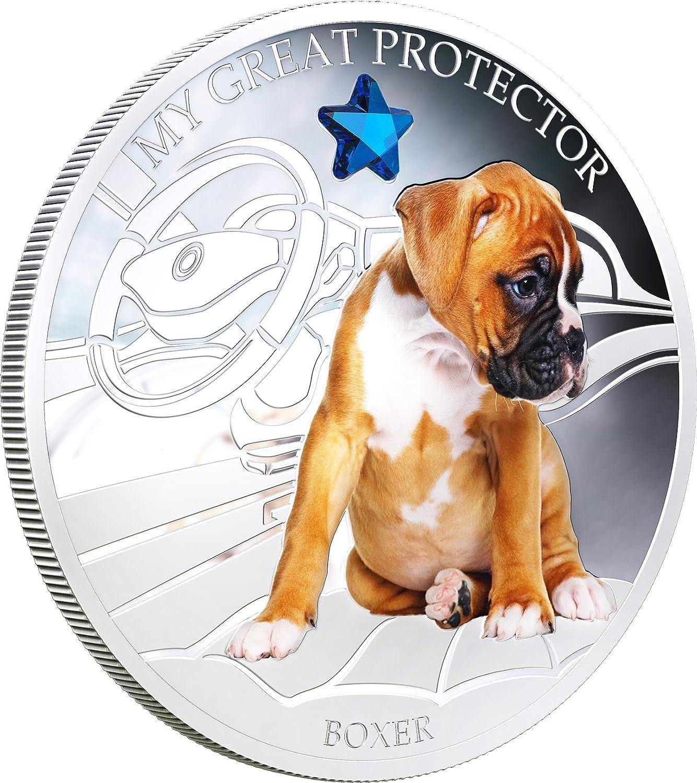 Fiji 2013 My Great Protector II English Bulldog Dogs /& Cats 1 Oz Silver Coin