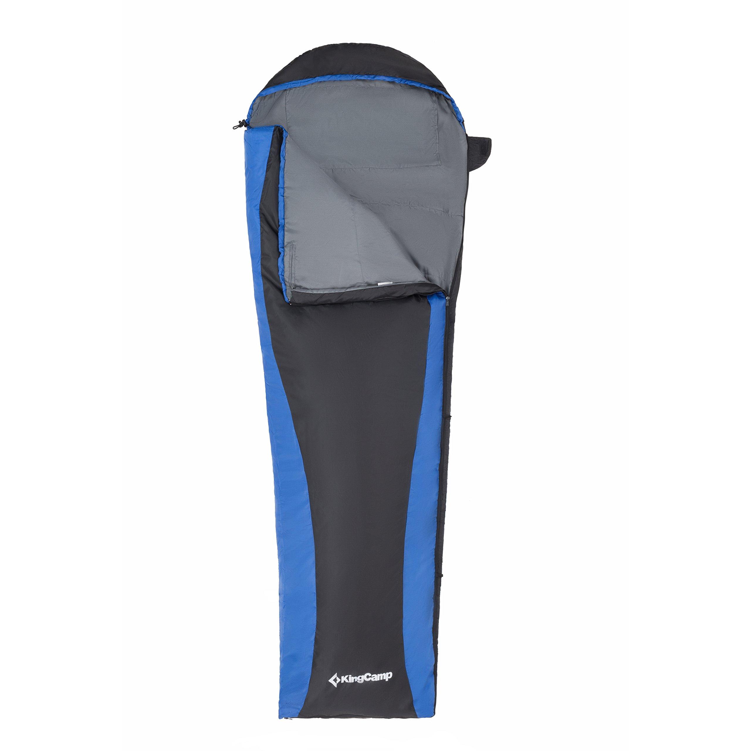 KingCamp Trail 800 Schlafsack Ultraleicht Mumienschlafsack Komfortbel Schlafsack für Camping Wandern Zuhause Rucksackreisen, 215x75x50cm, 0.8kg, Blau