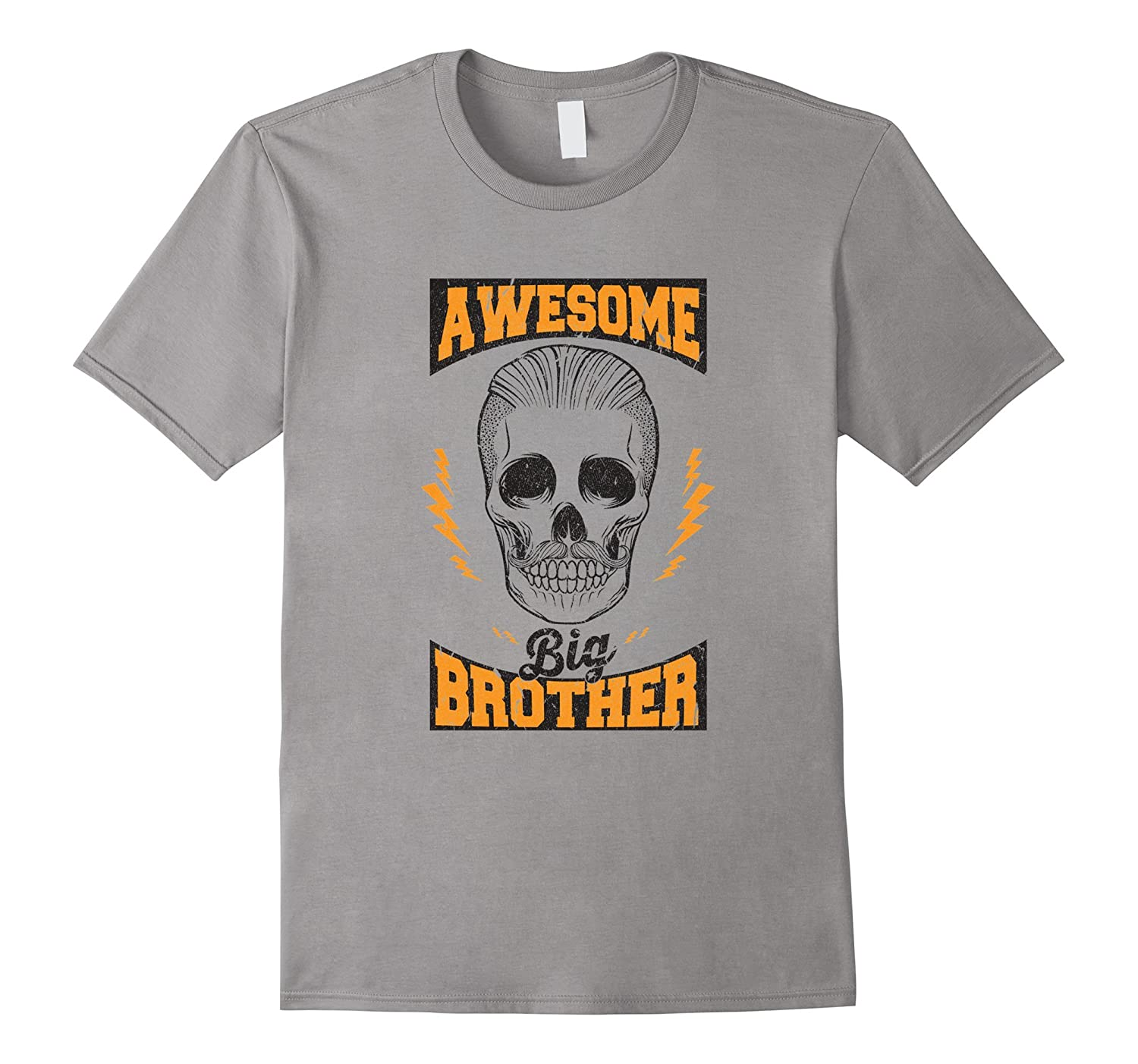 Awesome Big Brother Skull Graphic Print Tshirt Tee for Men-PL