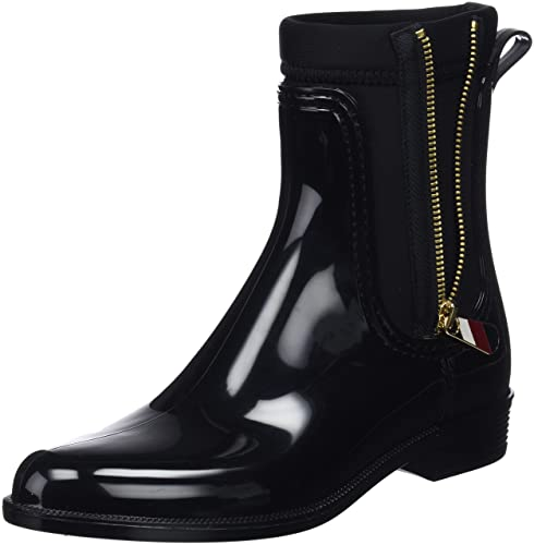 af9ca2bd50d5 Tommy Hilfiger Women s Material Mix Rain Boot Wellington  Amazon.co ...