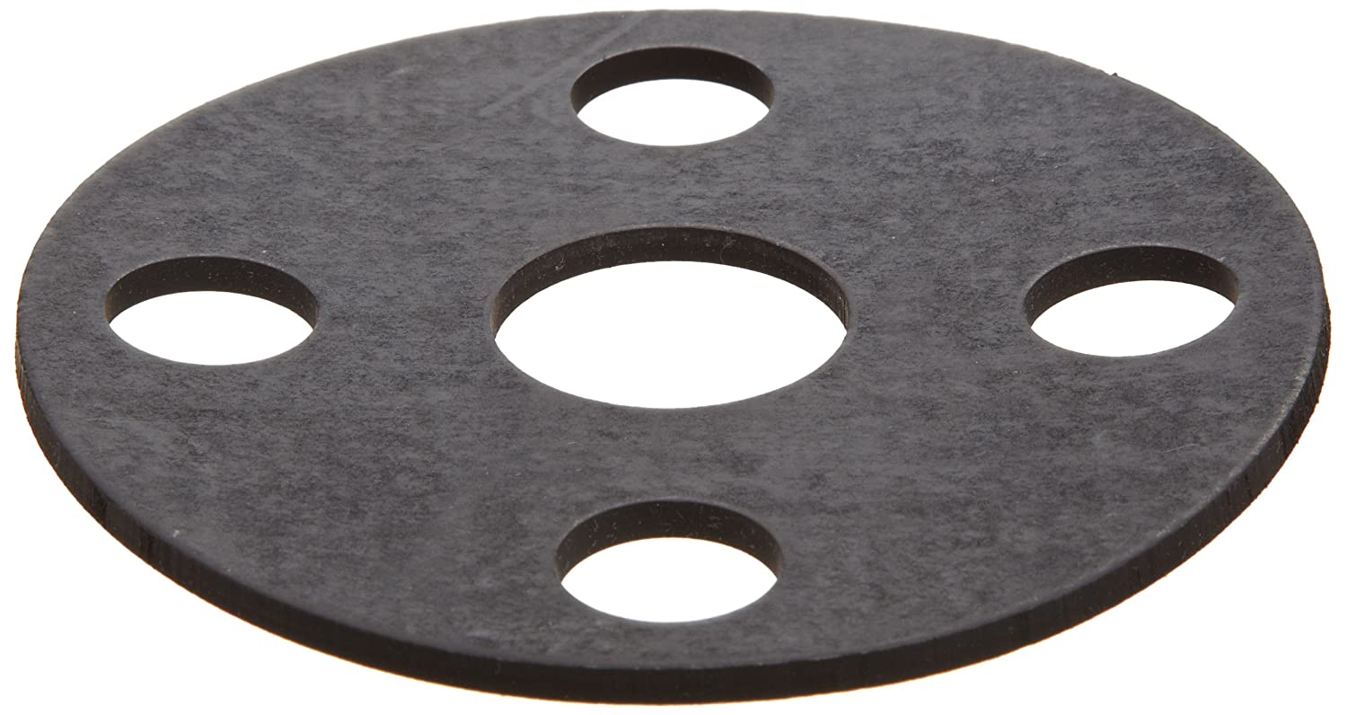 1-29//32 ID 1-1//2 Pipe Size Viton Fluoroelastomer Flange Gasket Fits Class 150 Flange 5 OD Black Pack of 1 Full Face 1//8 Thick
