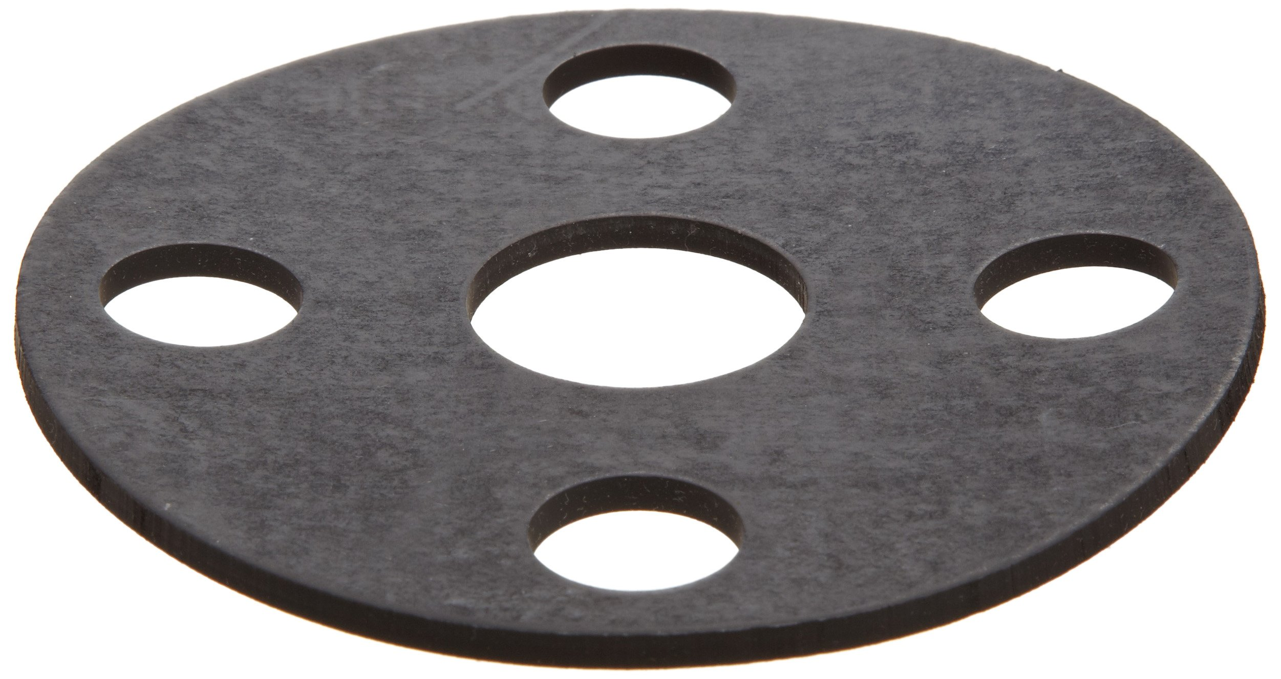 Viton Fluoroelastomer Flange Gasket, Full Face, Black, Fits Class 150 Flange, 1/8'' Thick, 2-1/2'' Pipe Size, 2-7/8'' ID, 7'' OD (Pack of 1)