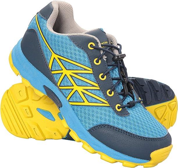 Mountain Warehouse Zapatillas de Running Hercules para niños - Ligeras, Acolchado EVA, Entresuela Phylon y Malla Superior sintética - para Deportes, Viajes y Exteriores: Amazon.es: Zapatos y complementos