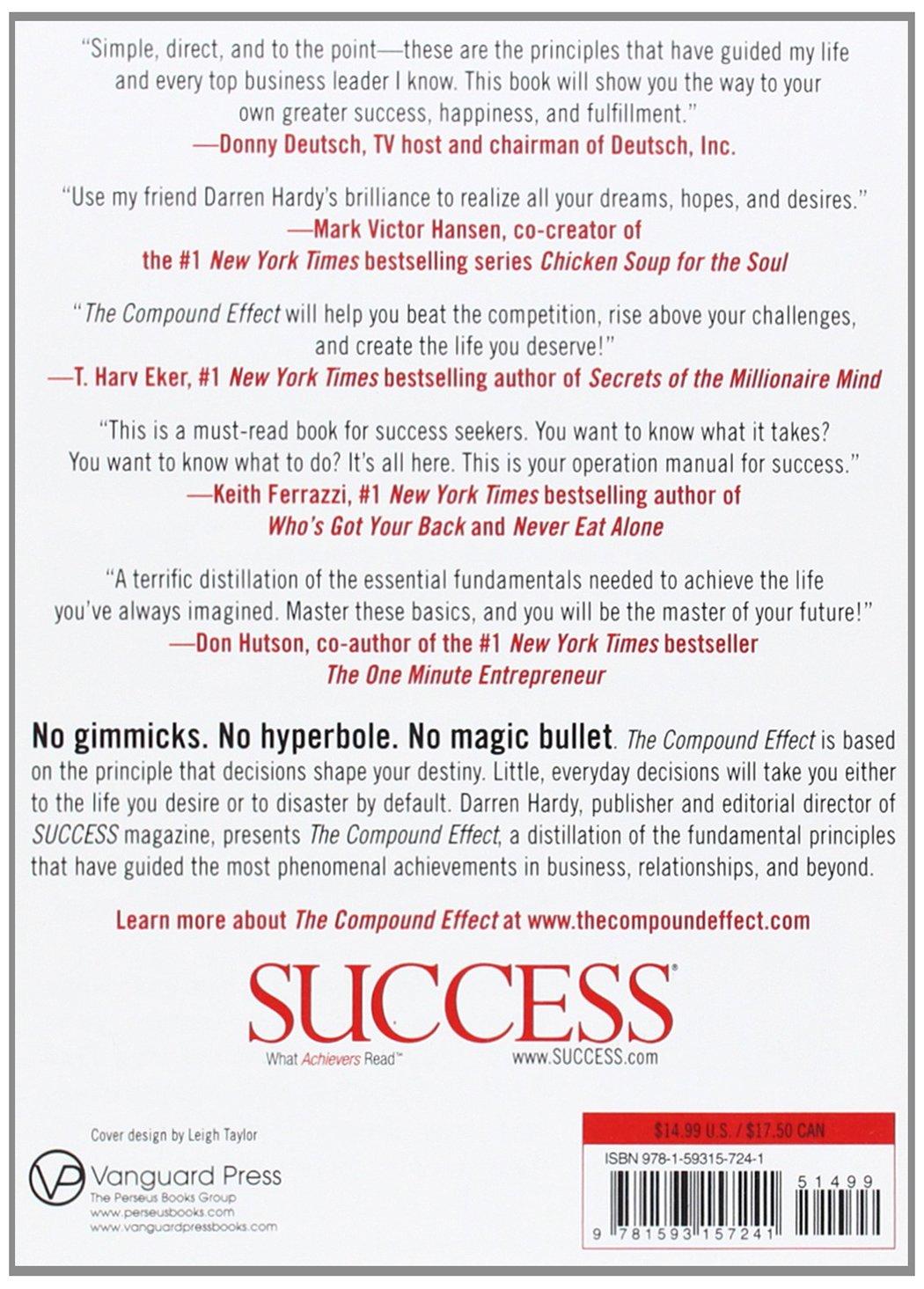 The Compound Effect: Darren Hardy: 9781593157241: Amazon.com: Books