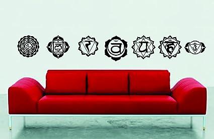 Seven Chakra's Set Wall Decal Sticker Graphic Art Asana Chakra