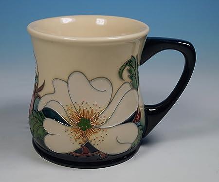 A MOORCROFT Pottery RHS Eglantine Rose Mug by Rachel Bishop 1st
