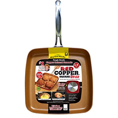 Red Copper Square Dance Non-Stick Ceramic Cookware