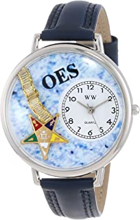 product image for Whimsical Watches Unisex U0710010 Order of the Eastern Star Navy Blue Leather Watch