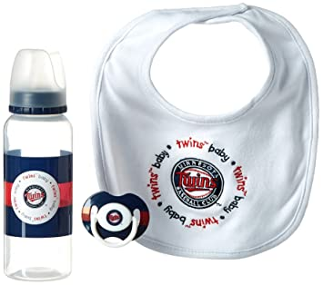 Amazon.com: MLB Baby Fanatic babero, la botella & Chupete ...