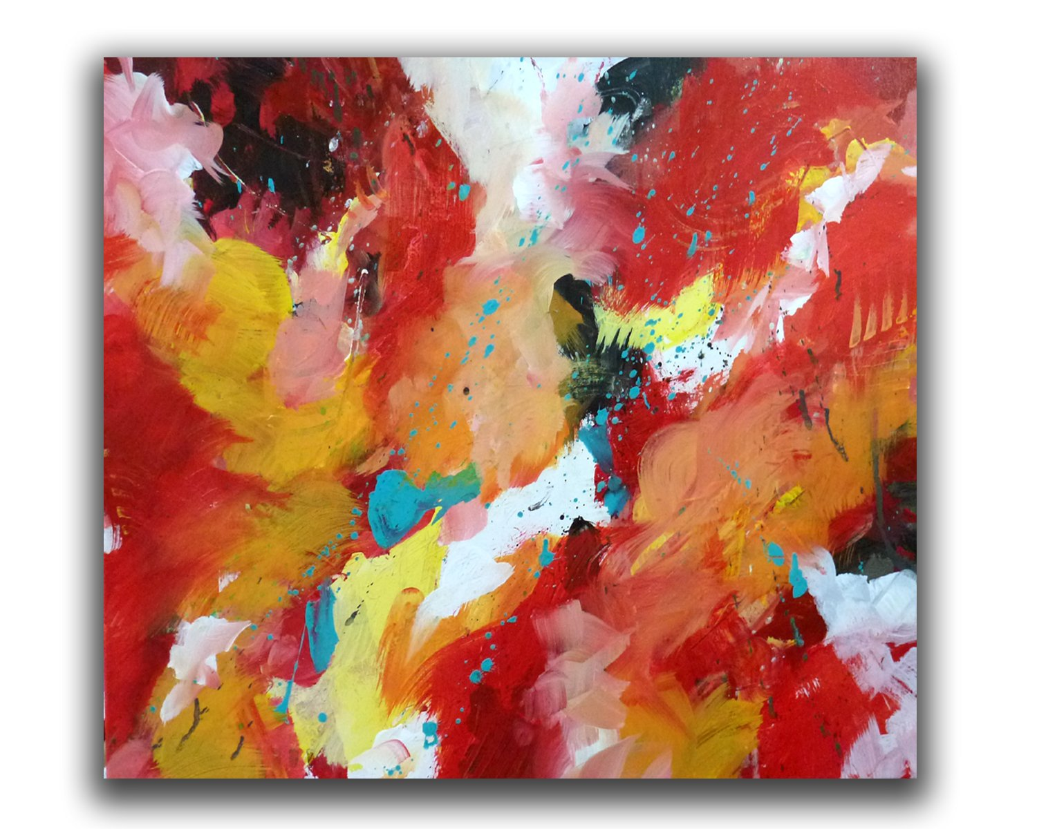 Orignal Christian Abstract Acrylic Painting 16x20 ''Gabriel'' by Linda Miller by Linda Miller Art