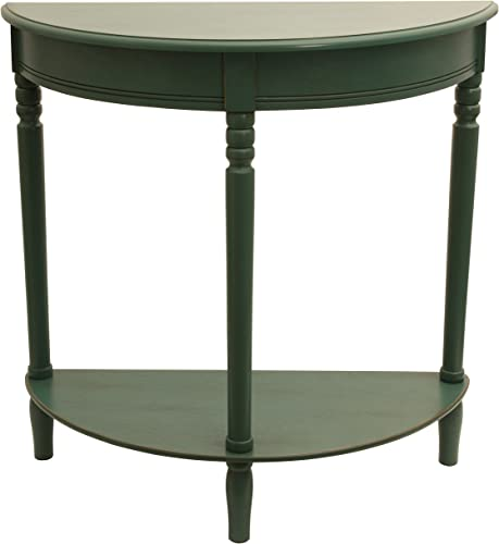 D cor Therapy Half Round Table, 28.25 W x 11.8 D x 28.25 H, Antique Teal