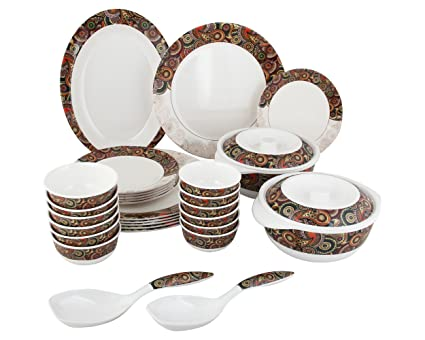 Servewell Dora Tribal Paisley Melamine Dinner Set - 31 Pieces - Multi-Colour  sc 1 st  Amazon.in & Buy Servewell Dora Tribal Paisley Melamine Dinner Set - 31 Pieces ...