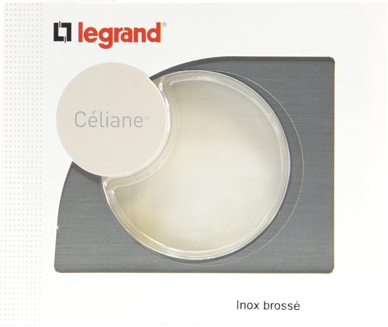 C/éliane Plaque avec 1 Poste Legrand Inox Bross/é LEG69101
