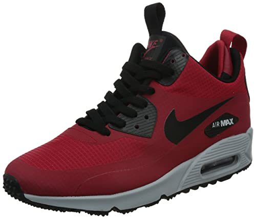 check out 3452b 314d8 Nike Men's Air Max 90 Mid Winter Red/Black/Grey 806808-600 ...