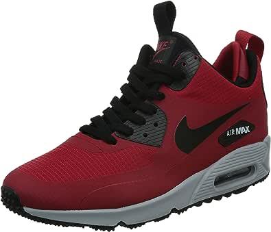 Nike Air MAX 90 Mid WNTR, Zapatillas de Running para Hombre, Rojo ...