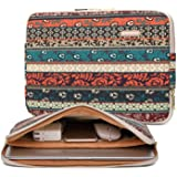 Kayond Canvas Water-Resistant 15.6 Inch Laptop Sleeve case for 15 inch 15.4 inch 15.6 inch Notebook Computer (15-15.6 inch, R