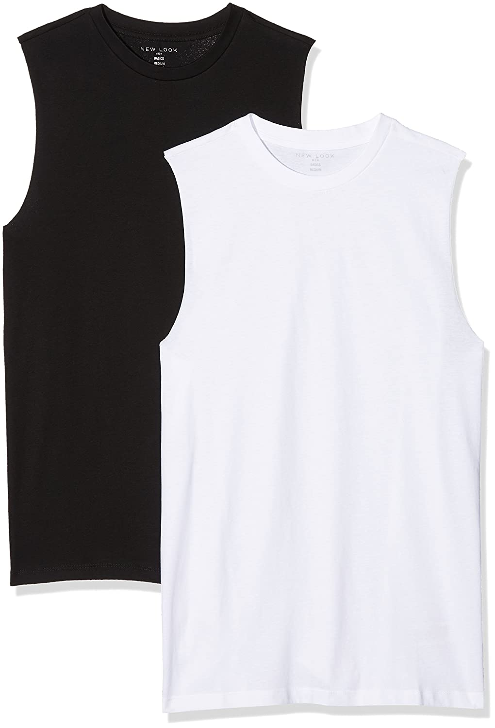 New Look Men's Jersey Tank 2 Pack 5568055