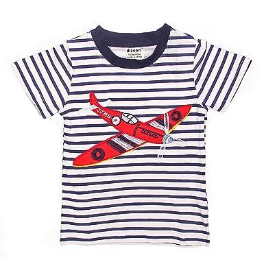 22f3e112c843c topmodelssTシャツ 男の子 半袖 シャツ キッズ 服 トップス ボーダー 飛行機 1-6歳