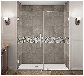 Aston Nautis Completely Frameless Hinged Shower Door 70 X 72