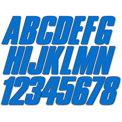 """Stiffie Shift Octane Blue 3"""" ID Kit Alpha-Numeric Registration Identification Numbers Stickers Decals for Boats & Personal Watercraft: Automotive"""