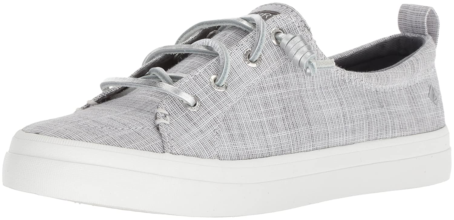 Sperry Top-Sider Women's Crest Vibe Metallic Novelty Sneaker B077P5JLBX 7.5 B(M) US|Silver