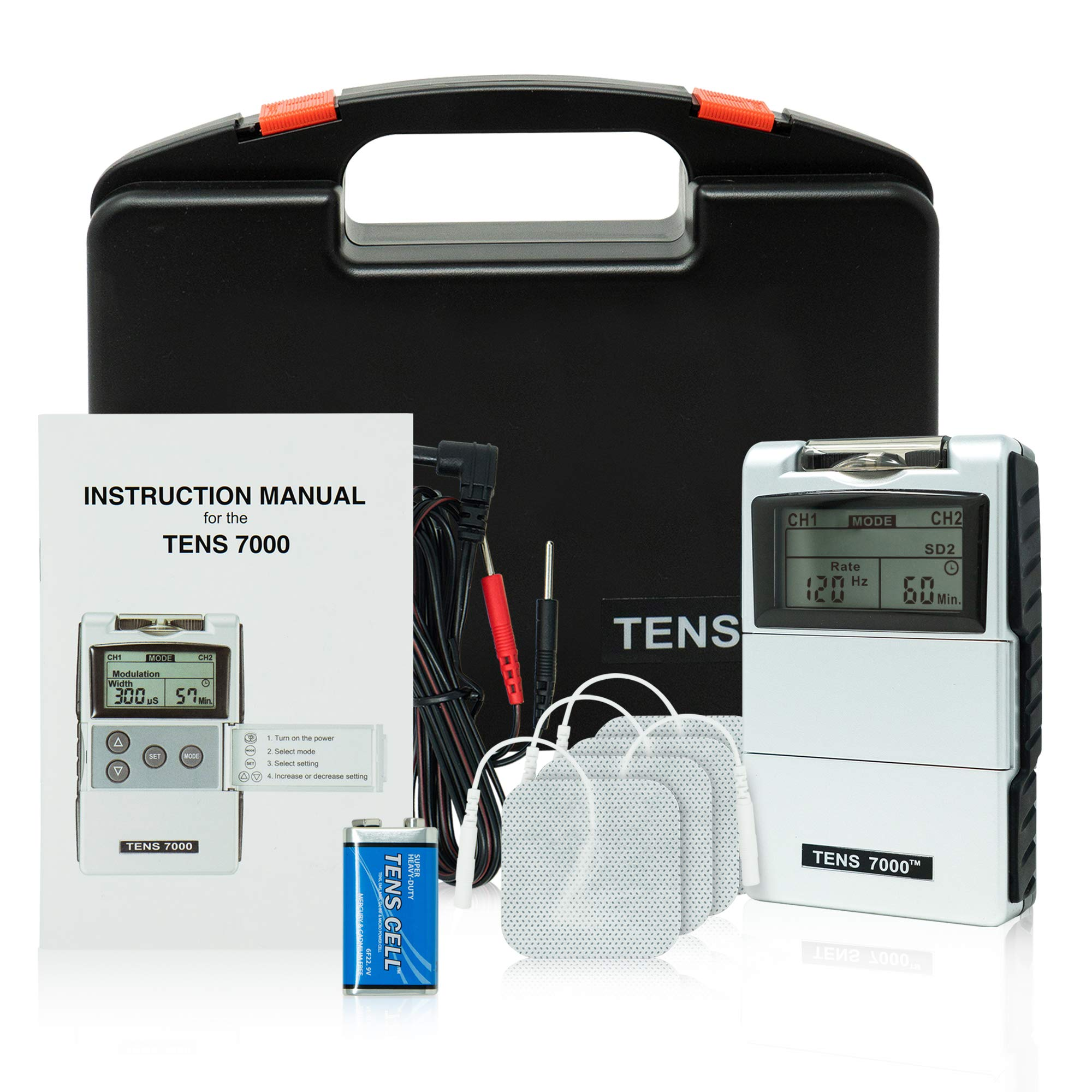 TENS 7000 2nd Edition Digital TENS Unit with Accessories by TENS 7000