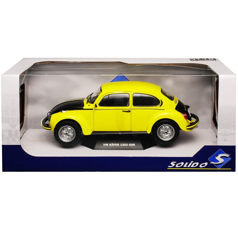 Volkwagen K/äfer 1303 Coupe Gelb mit Schwarz GSR 1//18 Solido Modell Auto mit individiuellem Wunschkennzeichen