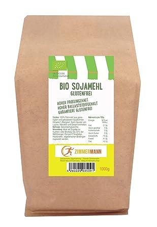 EU Bio Sojamehl - Rohware und Herstellung EU - glutenfrei - 1000g ...