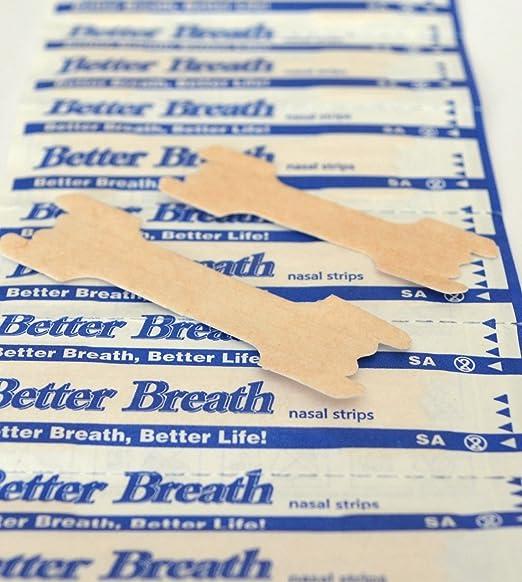 93 opinioni per 100 cerotti nasali Better Breath per respirare meglio, strisce del colore della