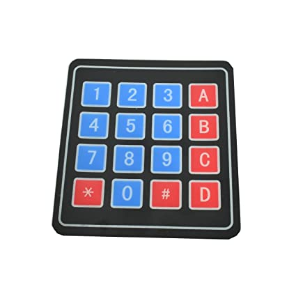Amazon com: 4x4 Membrane Switch Matrix Keypad Thin and Flexible with