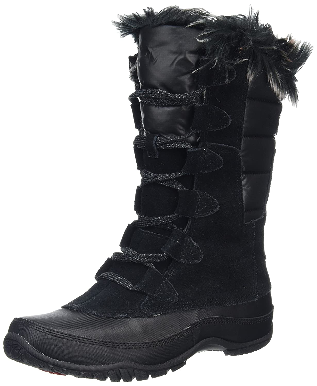 The North Face Women's Nuptse Purna B00AEURUKO 10.5 B(M) US|Shiny Tnf Black/Tnf Black