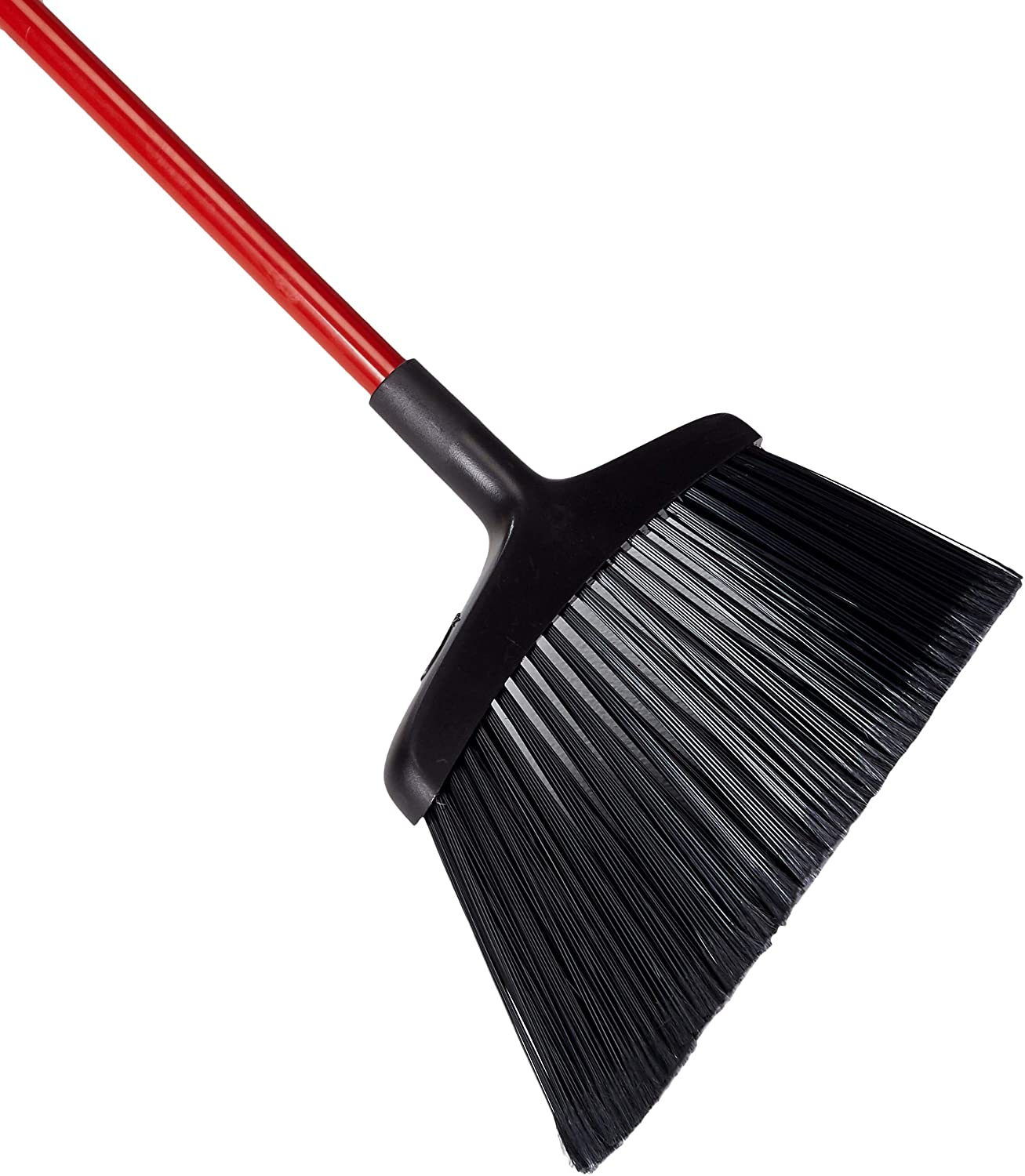 Black//Red 13 Width 54 Length Libman Commercial 994 Commercial Angle Broom Renewed Pack of 6