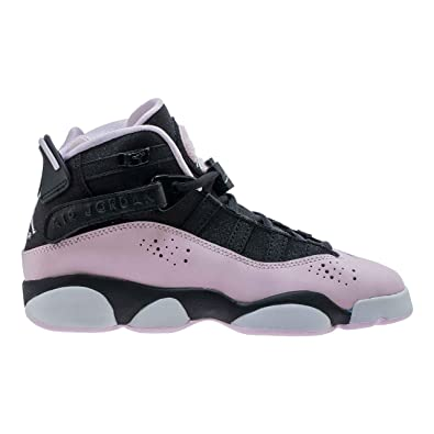 brand new c6900 44c37 Amazon.com | Jordan 6 Rings Black/Pink Foam-Anthracite (GS ...