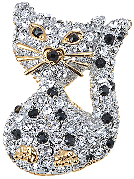 Amazon com: Alilang Swarovski Crystal Elements Heart Gold