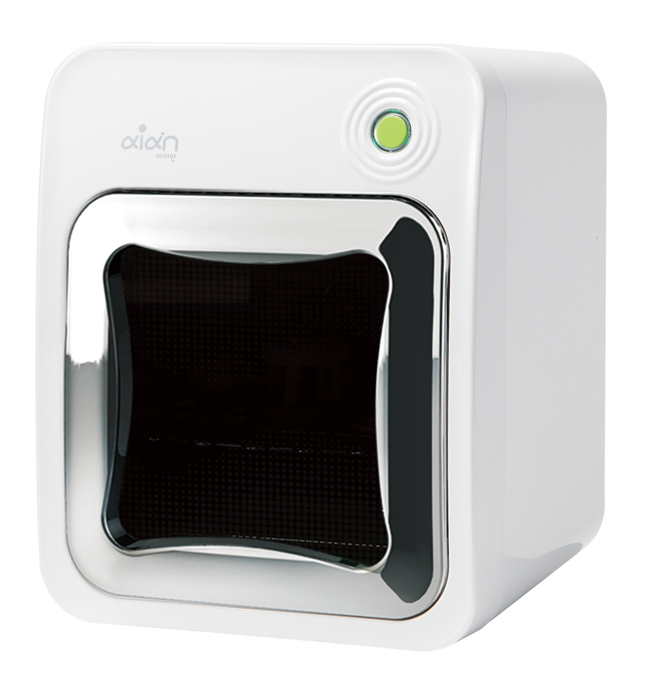 Aian Sterilizer & Dryer. Triple effect technology for quickly & effectively removing 99.99% bacteria,viruses.UV, LED InfraRed lights with patented delivery of lights. Spacious, sleek design. Audio msg