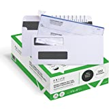 500 Self Seal QuickBooks Double Window Security Check Envelopes - for Business Laser Checks, Ultra Security Tinted, Self…