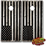 CL0053 American Flag Distressed Black CORNHOLE LAMINATED DECAL WRAP SET Decals Board Boards Vinyl Sticker Stickers Bean Bag Game Wraps Vinyl Graphic Tint Image Corn Hole