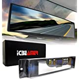 """ICBEAMER 10.6"""" 270mm Easy Clip on Wide Angle Panoramic Blind Spot Fit Auto Interior Rearview Mirror Convex Clear Surface"""