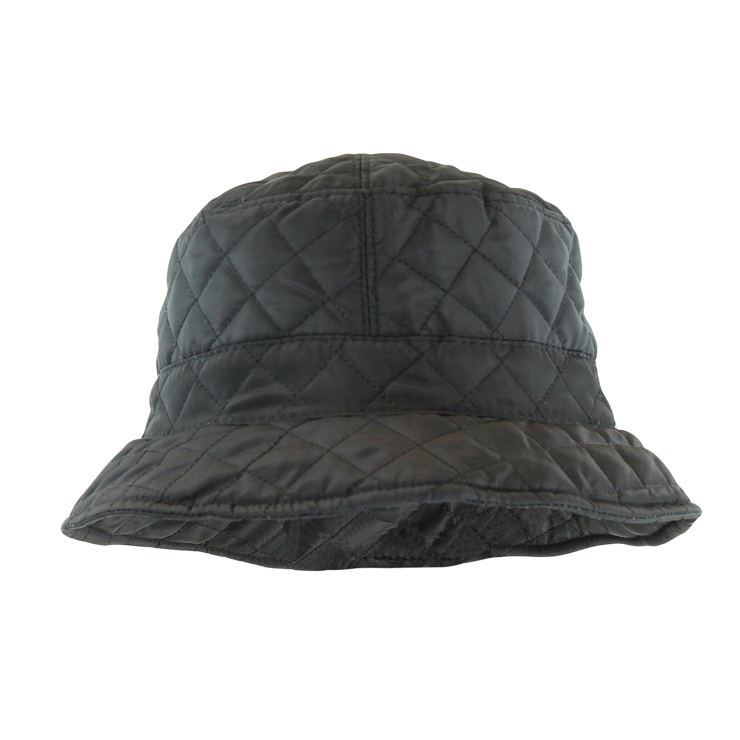 7e8cffc1aac FLH Foldable Water Repellent Quilted Rain Hat w Adjustable Drawstring