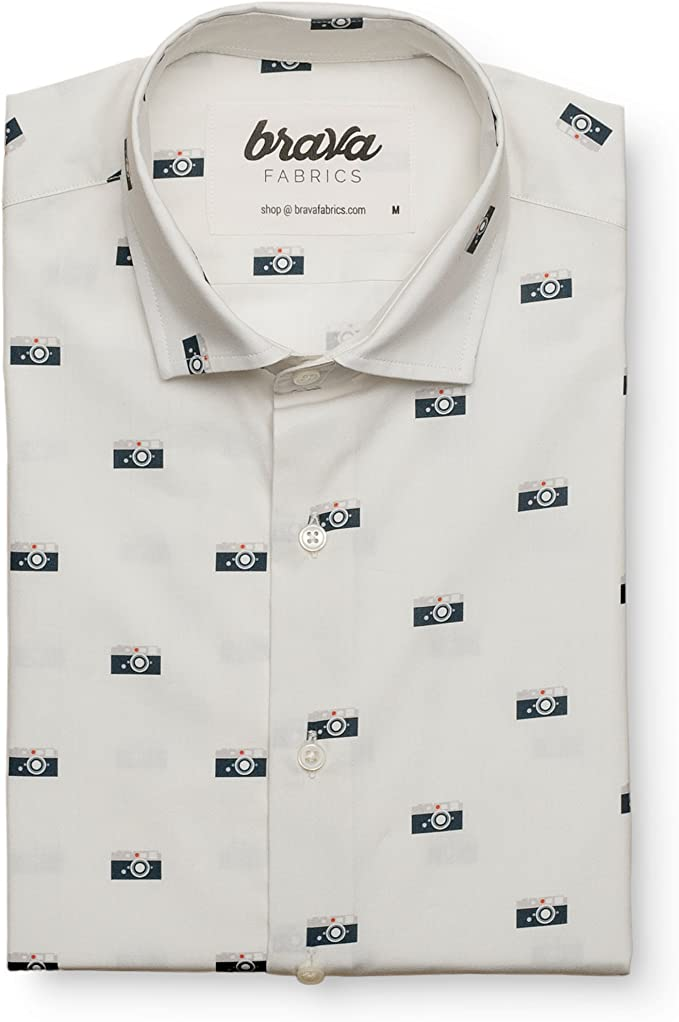 Brava Fabrics Camisa Capas Camera - Algodón Orgánico