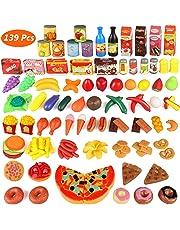 Estela - Set de cocina Play Niños, 139 piezas Plástico (Ruinuode Direct)