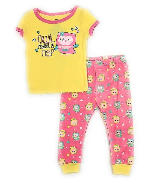 a49e1e492 Amazon.com  Baby and Toddler Girls Snug Fit Graphic Pajama Shirt and ...