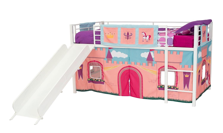 Amazon.com: DHP Curtain Set For Junior Loft Bed With Princess Castle  Design: Kitchen U0026 Dining