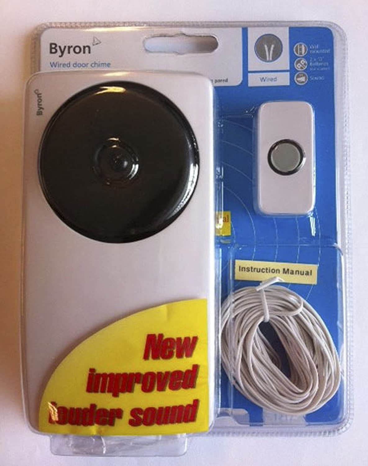 Byron 1217 Wired Doorbell Kit Classic Sound White Wiring Chime Diy Tools