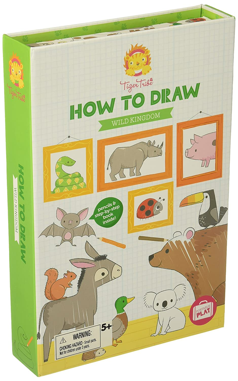 Amazon Com Tiger Tribe How To Draw Set Wild Kingdom Arts And