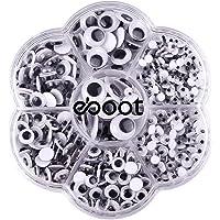 700 Pezzi Occhi Finti Occhi Pazzi Occhi Wiggle con Autoadesivo Fai Da Te Scrapbooking Crafts Accessori Giocattoli, Assortiti Taglie